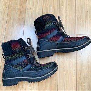 SOREL Tivoli II woven winter snow boot, 7, 38.